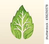green tree leaf texture cutout... | Shutterstock .eps vector #658250578