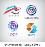 vector set of abstract logos... | Shutterstock .eps vector #658251958