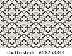 vintage abstract floral... | Shutterstock .eps vector #658253344