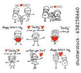 set of hand drawing cartoon... | Shutterstock .eps vector #658258660