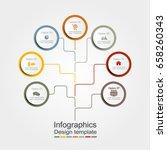 infographic design template... | Shutterstock .eps vector #658260343