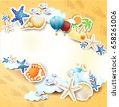 summer background with icons...   Shutterstock .eps vector #658261006