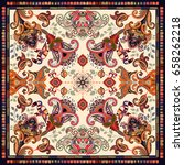 design for shawl  card  textile.... | Shutterstock . vector #658262218