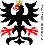 heraldry eagle vector | Shutterstock .eps vector #658267939