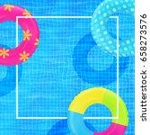 swim rings on swimming pool... | Shutterstock .eps vector #658273576