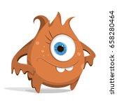 cartoon orange monster....   Shutterstock .eps vector #658280464