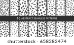 set of vector abstract seamless ... | Shutterstock .eps vector #658282474