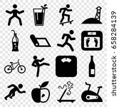 lifestyle icons set. set of 16... | Shutterstock .eps vector #658284139