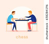 play chess. characters. flat... | Shutterstock .eps vector #658284196