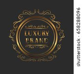 luxury logo template in vector... | Shutterstock .eps vector #658288096