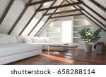 attic living room concept with... | Shutterstock . vector #658288114