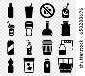 soda icons set. set of 16 soda... | Shutterstock .eps vector #658288696