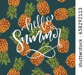 hello summer typographical... | Shutterstock .eps vector #658292113