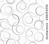 black and white seamless dotted ... | Shutterstock .eps vector #658293550