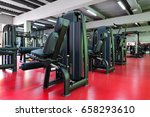 modern gym interior with... | Shutterstock . vector #658293610