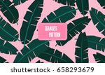 seamless tropical pattern with... | Shutterstock .eps vector #658293679
