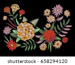 embroidery traditional folk... | Shutterstock .eps vector #658294120