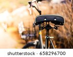 back view of a bicycle by the... | Shutterstock . vector #658296700