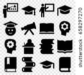 learning icons set. set of 16... | Shutterstock .eps vector #658297270