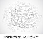 hand draw doodle elements bank... | Shutterstock .eps vector #658298929