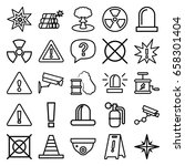 caution icons set. set of 25... | Shutterstock .eps vector #658301404