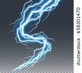 lightning and thunder bolt or... | Shutterstock .eps vector #658301470