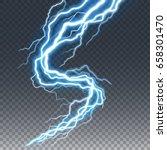 lightning and thunder bolt or... | Shutterstock .eps vector #658301470