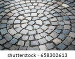 cobble stone brick road... | Shutterstock . vector #658302613