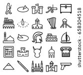 ancient icons set. set of 25...   Shutterstock .eps vector #658304518