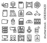 storage icons set. set of 25... | Shutterstock .eps vector #658304620