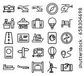 journey icons set. set of 25... | Shutterstock .eps vector #658304698