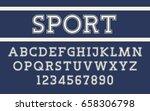 serif font modern sport design... | Shutterstock .eps vector #658306798