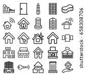 house icons set. set of 25... | Shutterstock .eps vector #658308706