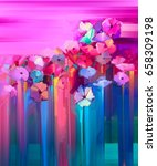 abstract oil painting spring... | Shutterstock . vector #658309198