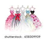 watercolor fashion... | Shutterstock . vector #658309939