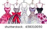 watercolor fashion... | Shutterstock . vector #658310050