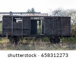 Old Wooden Ruined Boxcar