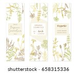 vector hand drawn floral cards... | Shutterstock .eps vector #658315336