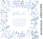 vector hand drawn floral frame... | Shutterstock .eps vector #658315396