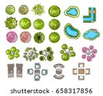 set of tree top symbols  for... | Shutterstock .eps vector #658317856