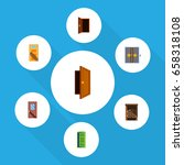 flat icon approach set of... | Shutterstock .eps vector #658318108