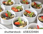 spaghetti  green curry | Shutterstock . vector #658320484