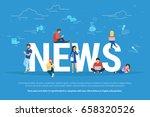 online breaking news concept... | Shutterstock .eps vector #658320526
