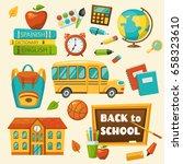 back to school set  vector... | Shutterstock .eps vector #658323610
