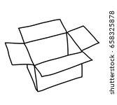 open and empty box | Shutterstock .eps vector #658325878