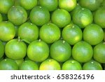 lime green background. a lot of ... | Shutterstock . vector #658326196