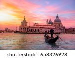 venetian gondolier punting... | Shutterstock . vector #658326928