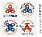 fidget spinners colored vector... | Shutterstock .eps vector #658329808