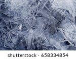 transparent ice crystals... | Shutterstock . vector #658334854