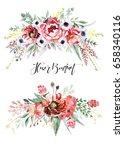 flower bouquet | Shutterstock . vector #658340116
